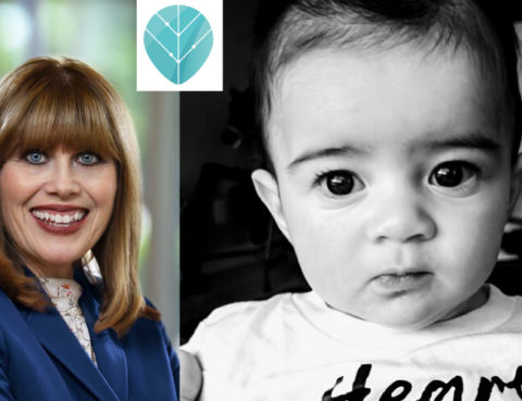 American Heart Association CEO Nancy Brown (left), and Chase (right). (Photos courtesy of AHA and Bob Larlee)