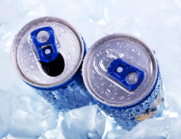 Energy drinks on ice. (BrunoWeltmann via DepositPhotos)