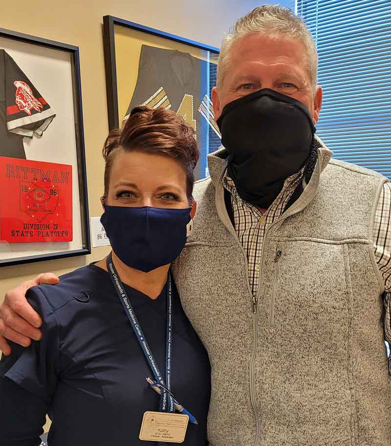 Dr. Mike Knapic (right) with his medical assistant, Kathy Rakovec. (Photo courtesy of Dr. Mike Knapic)