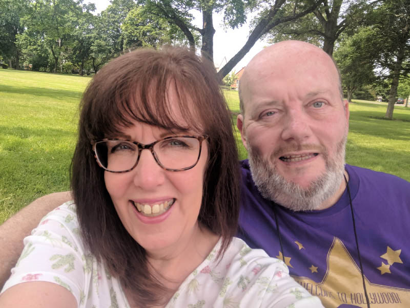 Carol (left) and Rich Coulther have attended a stroke camp every year since Rich's stroke. (Photo courtesy of Carol Coulther)