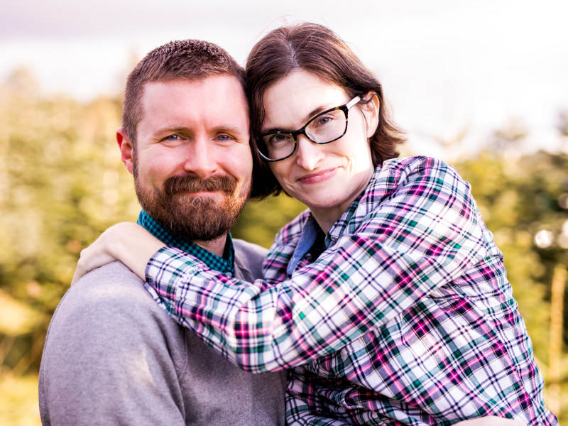Stroke survivor Lisa Anderson (right) with her husband, Jacob. (Photo by Amanda Orelman Photography)