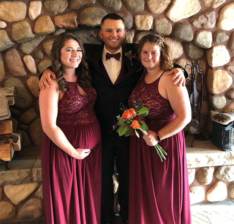 Jacob York (center) with his sister, Gabby Yuraitis and mom, Christy York. (Photo courtesy of Jacob York)