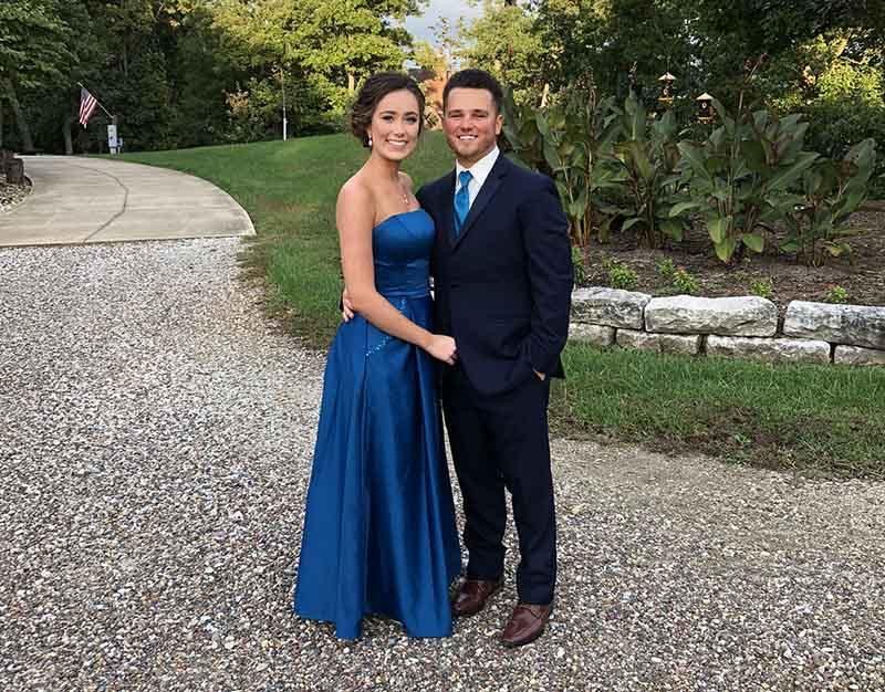 Jacob York (right) with his girlfriend, Hannah Deien. (Photo courtesy of Jacob York)